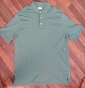 Greg Norman Mens Pima Cotton Polo Golf Shirt sz XL green