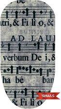 Unghie FASCE Nail Art Acqua Trasferelli Decalcomanie Carbone Musica Foglio W106