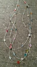 Handmade Rainbow Bead 3 Strand Necklace Made With Swarovski Elements
