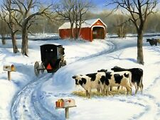 Chart Needlework Embroidery Counted Cross Stitch Patterns - Snow Cows