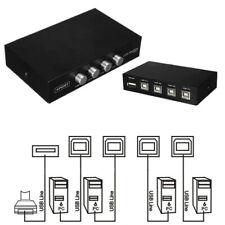 Portable 4 Ports USB Manual Share Sharing Switch Splitter Box Hub for PC Printer
