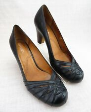 Anthropologie Biviel Women's 8 8.5 Black Leather 38.5 Shoes Celtic Knot Slip On