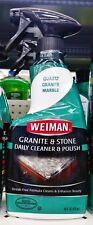 1 Weiman GRANITE & STONE Daily Cleaner Polish Streak-Free Quartz Marble 16 oz