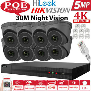 HIKVISION HILOOK 8MP CCTV SYSTEM IP POE4CH 8CH NVR DOME 5MP CAMERA KIT