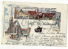 AK Altstadt 1897 Stuttgart Trödel Markt signiert