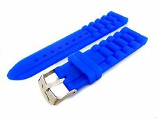 Blue Strap Band for Seiko Watches Silicone Rubber 22mm