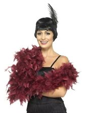 Costume Party Accessory 1920s Flapper Gangster Burlesque Deluxe Boa Burgundy