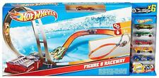 Hot Wheels Figure 8 Raceway Car Track Playset With 6 Cars