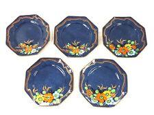 ROYAL WINTON GRIMWADES 'Burnham' 5x Hand Painted Blue / Floral Side Plates - E32