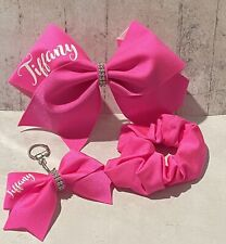 Cheerleading Bow Gift Set Keyring/Bagbling Scrunchie. Personalised