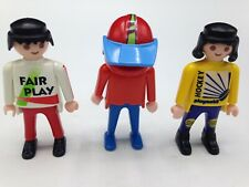 Playmobil Figures Set of 3 Male Figures Sports Hockey Soccer Motorcross