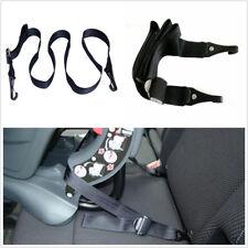 Black Universal Autos Baby Seat Strap Dual Hook Latch/Isofix Seatbelt Connector