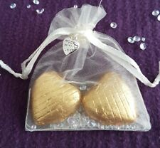 Wedding party favours ready made hen / baby shower gifts Foiled chocolate heart