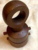DANSK Pepper Mill & Salt Shaker Jens H Quistgaard Teak Wood IHQ Denmark MCM