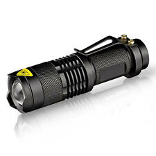 Mini CREE Q5 LED Zoomable Flashlight Torch 7W 2000LM Waterproof Zoom Light Lamp