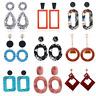 Fashion Women Acrylic Geometric Dangle Drop Statement Earrings Jewelry