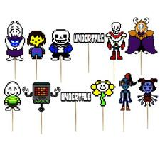 UNDERTALE party supplies banner balloon decorations birthday CUPCAKe topper