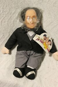 """1999 One Stop Toy Co The THREE STOOGES """"Larry"""" 8in Plush Toy Doll In Formal Suit"""