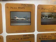 VTG 20 lot airplane 35mm Color Slide Aircraft Aviation 70's jets slides