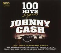 JOHNNY CASH - 100 HITS-JOHNNY CASH 5 CD NEU