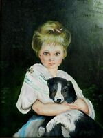 "M. JANE DOYLE SIGNED ORIGINAL ART OIL/CANVAS PAINTING ""FRIENDS"" FRAMED"