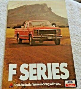 Ford Australia Sales Brochure Jan 1981 F Series Pick up Chassis Cab Classic Car