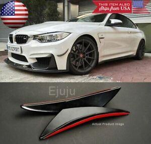 2 Pcs Flexible Curve Bumper Lip Splitter Fin Spoiler Canards Diffuser for Nissan