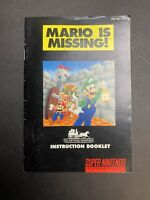 Mario is Missing Super Nintendo, 1993 SNES *Manual Instructions Only* Make A CiB
