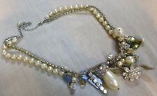 Chan Luu Bedazzled Ornate Pearl Necklace