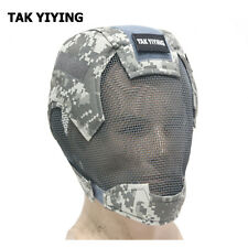 Airsoft Paintball Masks Tactical Steel Mesh Full Face V6 Mask