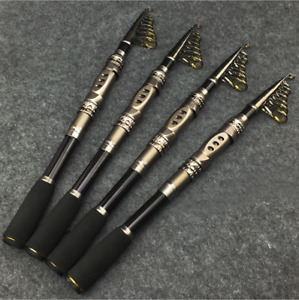1pcs High Carbon Strength Telescopic Fishing Spinning Rod Fishing Pole Saltwater