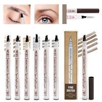 3D Microblading Tattoo Eyebrow Ink Fork Tip Pen Eye Brow Makeup Pencil Pen