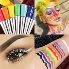 12Colorful Eyeliner Pencil Neon Green White Matte Liquid Waterproof Makeup Sexy.