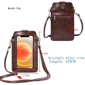 Women Phone Purse Lightweight Crossbody Bag Touch Screen for iPhone 12 Samsung