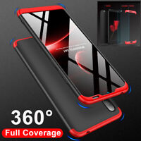 For Huawei Y6  Y7 Y9 2019 Hybrid 360° Full Protective Case Cover+Tempered Glass