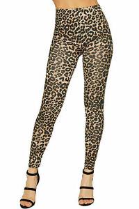 Ladies Leopard Animal Print Women Stretch Full Length Leggings Pants