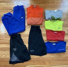 Under Armour Shirt Mens Size Small Athletic Clothing Lot Of 8 Items