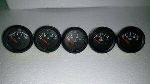 El Gauges 52mm (5pc) - Volt Water Temp C Oil Temp C Oil Press bar Fuel Gauge