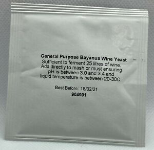Prestige universal Weinhefe - Trockenhefe für 25 Liter Maische - C. Bayanus