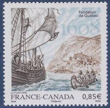 2008 FRANCE N°4182**  France-Canada - Fondation de QUEBEC BATEAU Voilier MNH