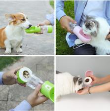 botella de agua para mascotas Potable Perro  de comida para viaje al aire libre
