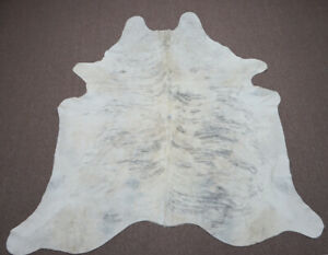 Large gray tan brindle  Brazilian  Cowhide rug  6.11 x 6.8 ft -3939