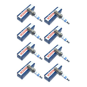 Set of 8 Bosch Platinum+4 Spark Plugs FGR7DQP for BMW Audi Honda For Mercedes VW