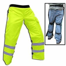 "Forester Chainsaw Safety Chaps with Pocket, Apron Style 40"", Safety Green"