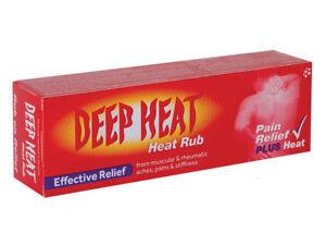 Deep Heat Rub cream Effective Relief Plus Heat Rub .Original Dual Action 35 g