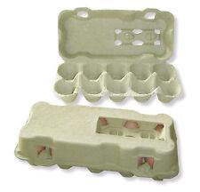4 neutrale 10er Eierschachteln in Gelb; Eierkartons, Eierverpackungen, 10 Eier