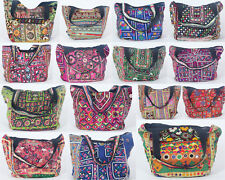 15 PCs Lot Cotton Tote/Shopping/College Bags Vintage Handbags Gypsy Purse