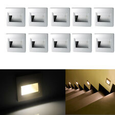 10Pcs Warm White 2.5W LED Wall Recessed Stair Hall Corridor Lamp Corner Lights