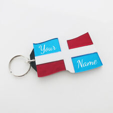 Dominican Republic Flag Key Chain,Personalized Free