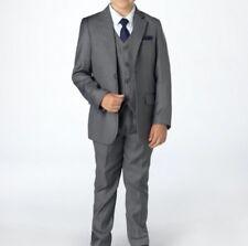costume enfant gris mat anthracite garcon mariage et ceremonie 12 ans